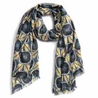 sjaal zonnebloemen