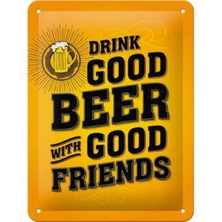 metalen wandplaat drink good beer