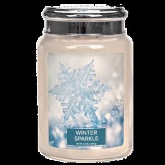 winter sparkle geurkaars large