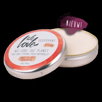 natuurlijk deodorant van we love the planet, sweet and soft