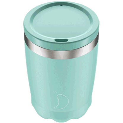 pastel green coffee cup