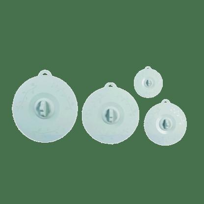 siliconen deksels set van 4